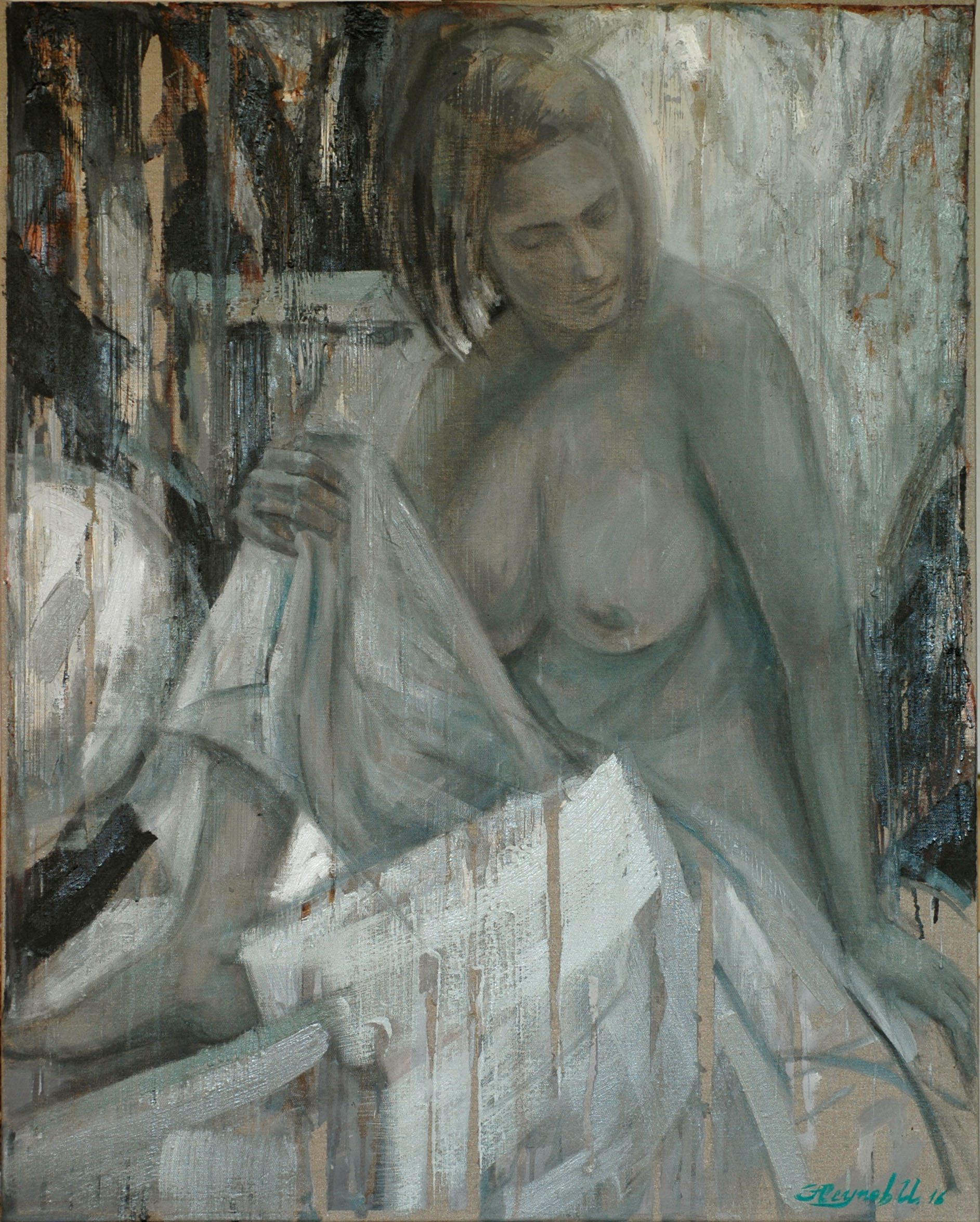 Nude Against the Light 2016 100x80 oil on canvas